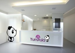 Yum Asia logo in an office