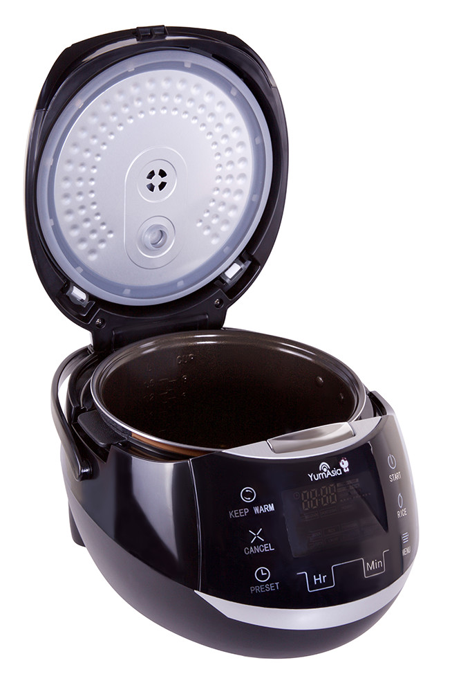 Sakura ceramic rice cooker Lid open