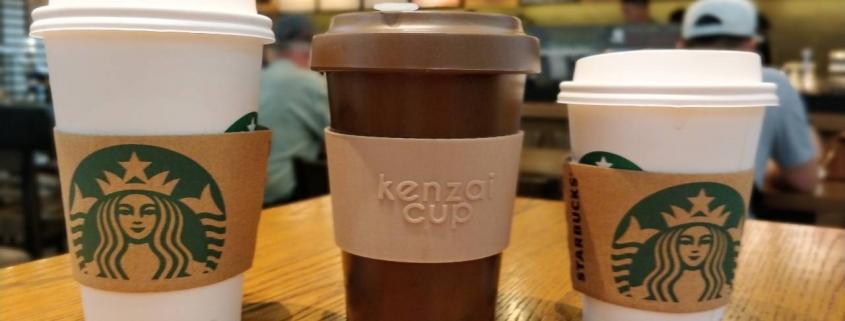 Kenzai and Starbucks size comparison