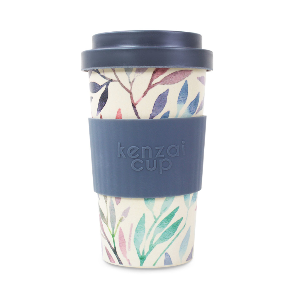Bamboo reusable cup with screw lid